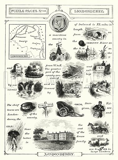 Londonderry. Illustration for The Children's Friend (1888).