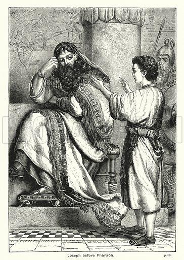 Joseph before Pharaoh. Illustration for The Children's Friend (1888).