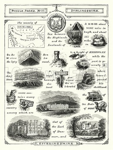 Stirlingshire. Illustration for The Children's Friend (1888).