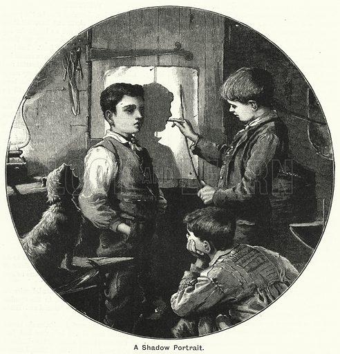 A Shadow Portrait. Illustration for The Children's Friend (1890).