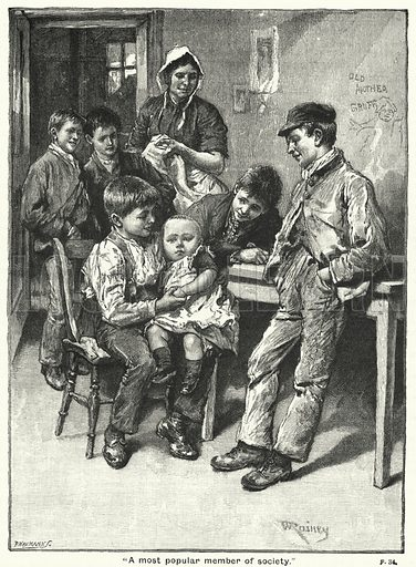 """A most popular member of society."" Illustration for The Children's Friend (1890)."