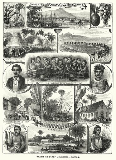 Samoa, Navigators' Islands. Illustration for The Children's Friend (1891).