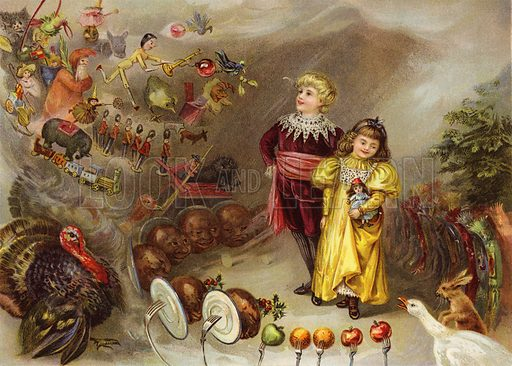 A Dream of Christmas. Illustration for The Children's Friend (1898).