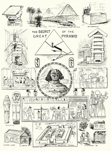 The Secret of the Great Pyramid. Illustration for The Children's Friend (1898).