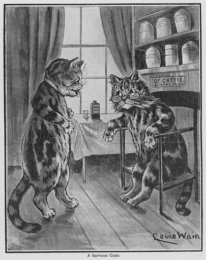 A Serious Case. Illustration for The Children's Friend (1898).