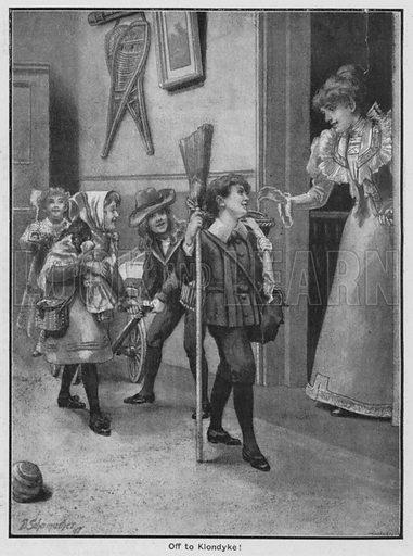 Off to Klondyke! Illustration for The Children's Friend (1898).