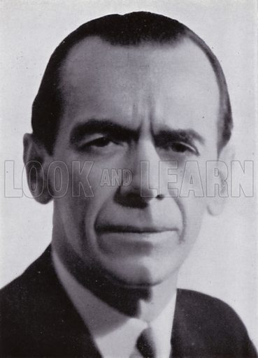 Malcolm Sargent. Illustration for Conductors' Gallery by Donald Brook (Rockliff, 1945).  Photo credit: Howard Coster.
