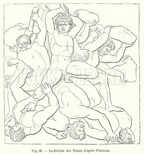 La Defaite des Titans, d'apres Flaxman. Illustration for La Creation de L'Homme et les Premiers Ages de L'Humanite by Henri Du Cleuziou (Marpon et Flammarion, 1887).