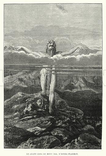 Le Geant Grec Du Mont Ida, D'apres Flaxman. Illustration for La Creation de L'Homme et les Premiers Ages de L'Humanite by Henri Du Cleuziou (Marpon et Flammarion, 1887).