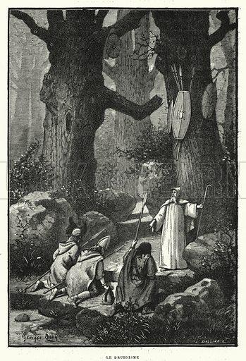 Le Druidisme. Illustration for La Creation de L'Homme et les Premiers Ages de L'Humanite by Henri Du Cleuziou (Marpon et Flammarion, 1887).