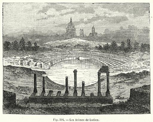 Les Arenes de Lutece. Illustration for La Creation de L