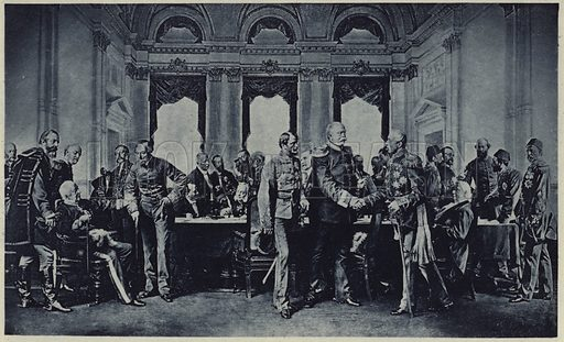 The Congress of Berlin. Illustration for Crowned Masterpieces of Eloquence (International University Society, 1911).