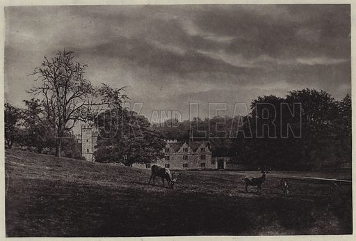 Knole Park. Illustration for Crowned Masterpieces of Eloquence (International University Society, 1911).