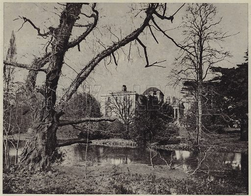 Chiswick House. Illustration for Crowned Masterpieces of Eloquence (International University Society, 1911).