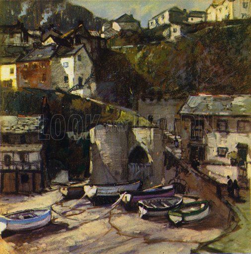 Clovelly. Illustration for Devon and Cornish Days by E P Leigh-Bennett (np, c 1935).