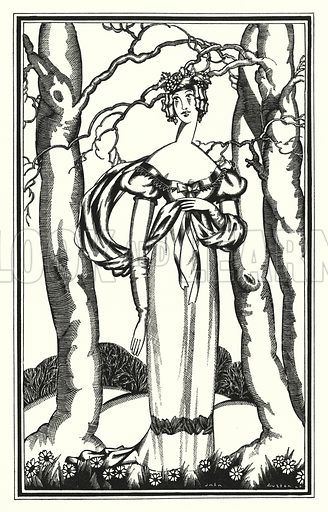 Lady Adeline, My Dian of the Ephesians. Illustration for Don Juan by Lord Byron with illustrations by John Austen (John Lane The Bodley Head, 1926).