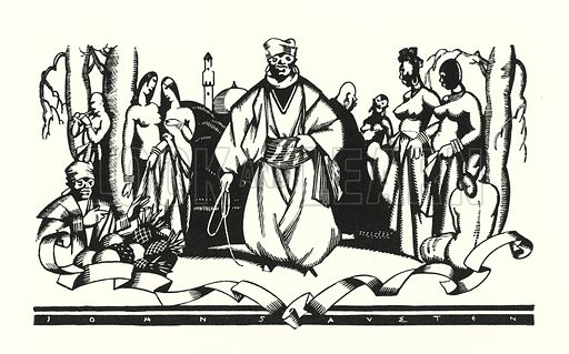 Illustration for Don Juan by Lord Byron with illustrations by John Austen (John Lane The Bodley Head, 1926).