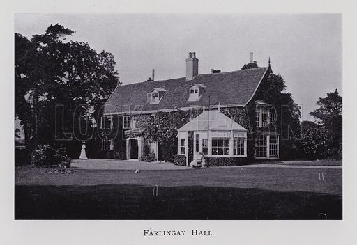 Farlingay Hall. Illustration for Edward Fitzgerald 1809-1909 Centenary Celebrations Souvenir (East Anglian Daily Times, 1909).