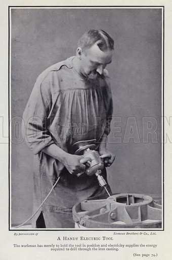 A handy electric tool. Illustration for Electricity of To-day by Charles R Gibson (2nd edn, Seeley Service, 1912).