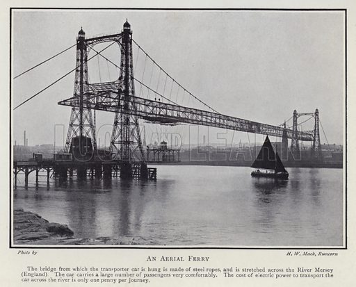 An aerial ferry. Illustration for Electricity of To-day by Charles R Gibson (2nd edn, Seeley Service, 1912).