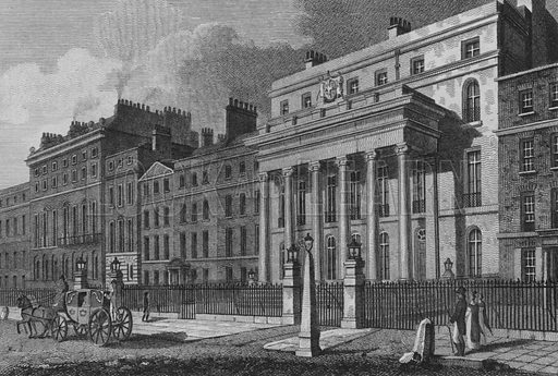 The Surgeons' New Theatre, Lincoln's Inn Fields. Illustration for The Beauties of England and Wales by Joseph Nightingale (J Harris et al, 1815).