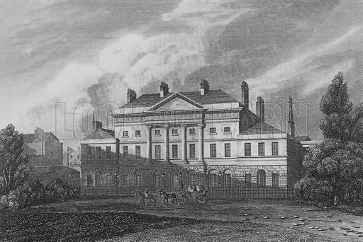 Lansdown House, Westminster, The Residence of the Most Noble the Marquis of Lansdown. Illustration for The Beauties of England and Wales by Joseph Nightingale (J Harris et al, 1815).