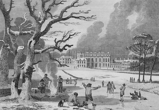 Buckingham House, the Palace of Her Majesty Queen Charlotte, St James's Park. Illustration for The Beauties of England and Wales by Joseph Nightingale (J Harris et al, 1815).