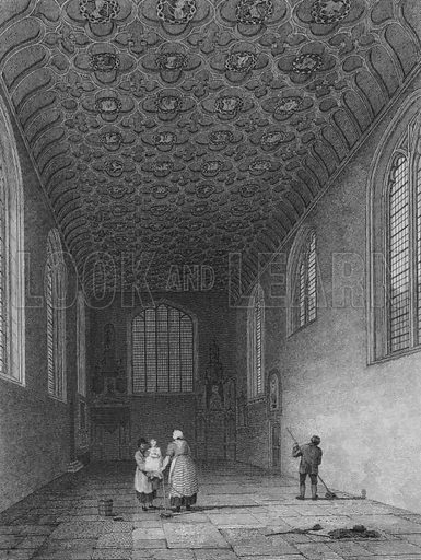 Interior of the Savoy Chapel, Westminster. Illustration for The Beauties of England and Wales by Joseph Nightingale (J Harris et al, 1815).