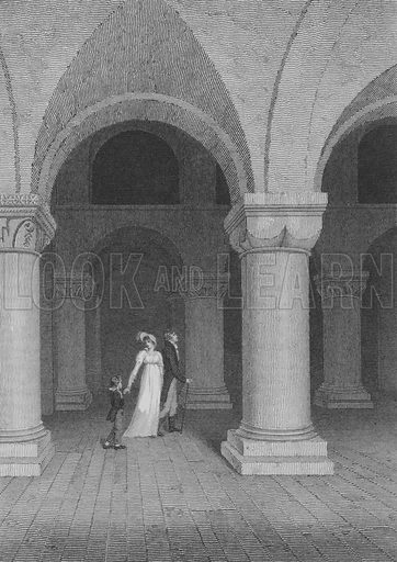 The Chapel in the Tower, now called the Record Office, London. Illustration for The Beauties of England and Wales by Joseph Nightingale (J Harris et al, 1815).
