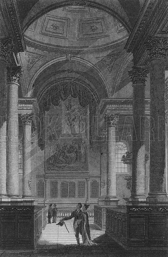 St Stephen's Walbrook, London. Illustration for The Beauties of England and Wales by Joseph Nightingale (J Harris et al, 1815).