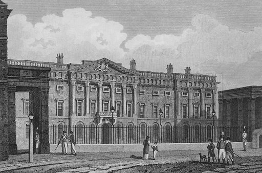 The New Mint, on Tower Hill. Illustration for The Beauties of England and Wales by Joseph Nightingale (J Harris et al, 1815).