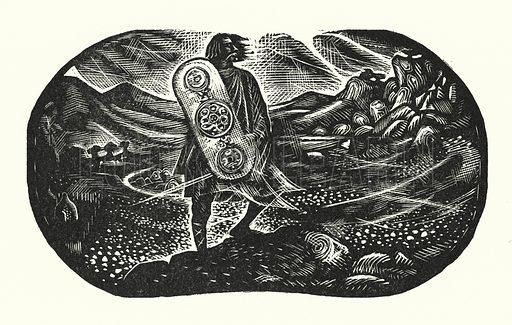 The Hero Legend. Illustration for English Folk-Heroes by Christina Hole (Batsford, 1948).