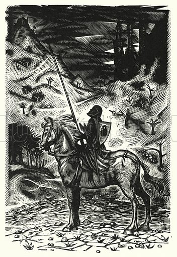 Arthur, Hero of Romance and Chivalry. Illustration for English Folk-Heroes by Christina Hole (Batsford, 1948).