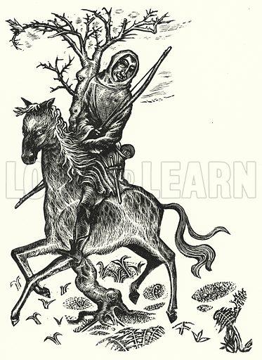 Robin Hood, the Outlaw Hero. Illustration for English Folk-Heroes by Christina Hole (Batsford, 1948).