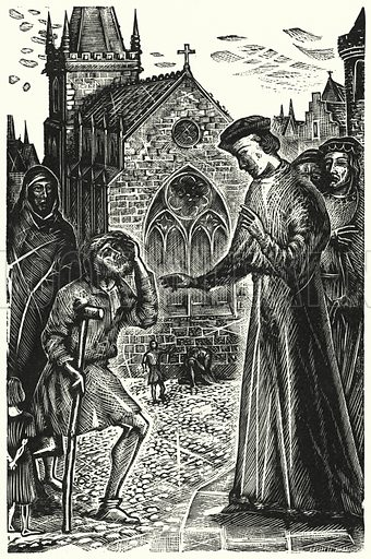 Henry VI, Hero of Charity and Healing. Illustration for English Folk-Heroes by Christina Hole (Batsford, 1948).