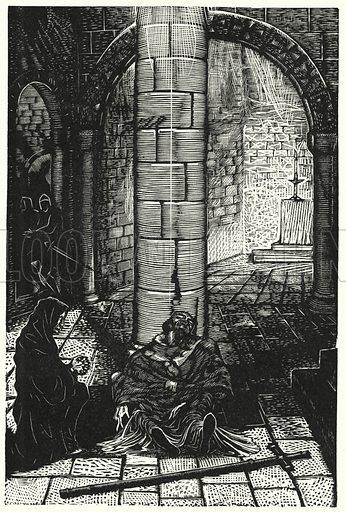 St Thomas a Becket, Saint, Hero, and Martyr. Illustration for English Folk-Heroes by Christina Hole (Batsford, 1948).