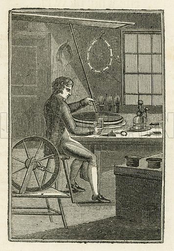 Wire-Drawer. Illustration for The Book of English Trades and Library of the Useful Arts (new edn, J Souter, 1818).