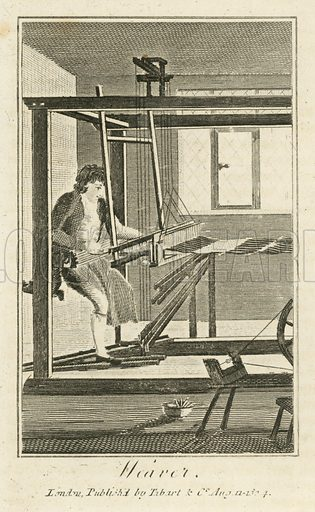 Weaver. Illustration for The Book of English Trades and Library of the Useful Arts (new edn, J Souter, 1818).