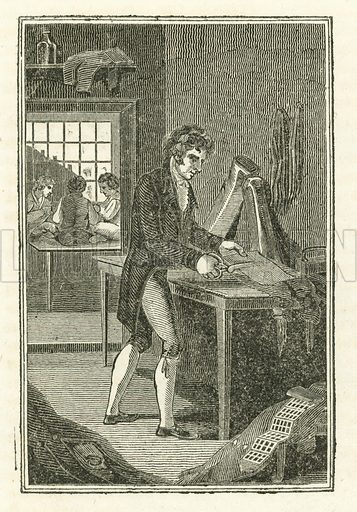 The Tailor. Illustration for The Book of English Trades and Library of the Useful Arts (new edn, J Souter, 1818).
