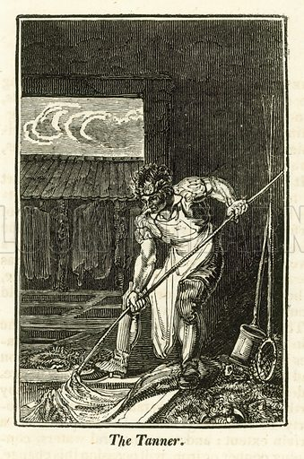 The Tanner. Illustration for The Book of English Trades and Library of the Useful Arts (new edn, J Souter, 1818).