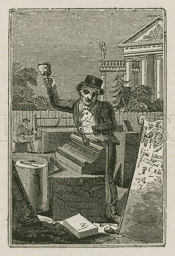 Stone Mason. Illustration for The Book of English Trades and Library of the Useful Arts (new edn, J Souter, 1818).