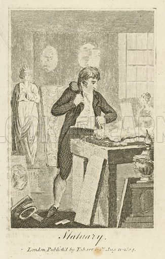 Statuary. Illustration for The Book of English Trades and Library of the Useful Arts (new edn, J Souter, 1818).