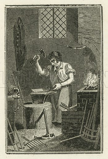 The Smith. Illustration for The Book of English Trades and Library of the Useful Arts (new edn, J Souter, 1818).