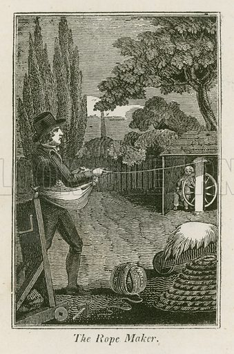 The Rope Maker. Illustration for The Book of English Trades and Library of the Useful Arts (new edn, J Souter, 1818).