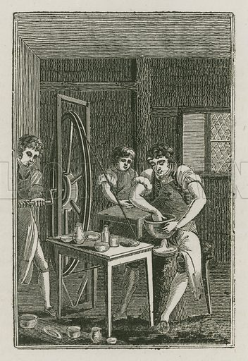 The Potter. Illustration for The Book of English Trades and Library of the Useful Arts (new edn, J Souter, 1818).