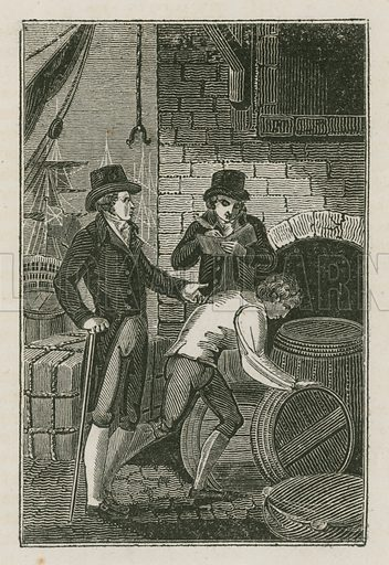 The Merchant. Illustration for The Book of English Trades and Library of the Useful Arts (new edn, J Souter, 1818).