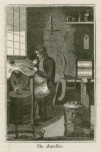 The Jeweller. Illustration for The Book of English Trades and Library of the Useful Arts (new edn, J Souter, 1818).