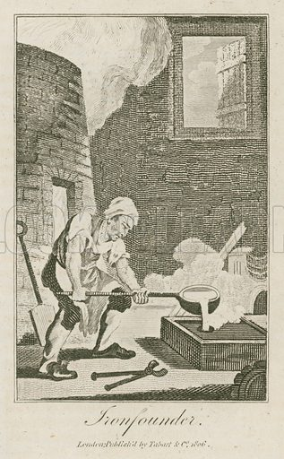 Ironfounder. Illustration for The Book of English Trades and Library of the Useful Arts (new edn, J Souter, 1818).