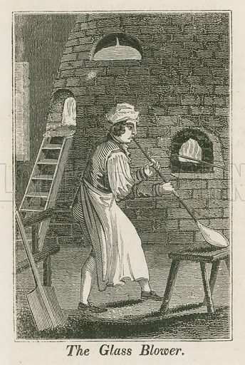 The Glass Blower. Illustration for The Book of English Trades and Library of the Useful Arts (new edn, J Souter, 1818).