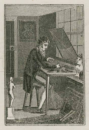 The Engraver. Illustration for The Book of English Trades and Library of the Useful Arts (new edn, J Souter, 1818).